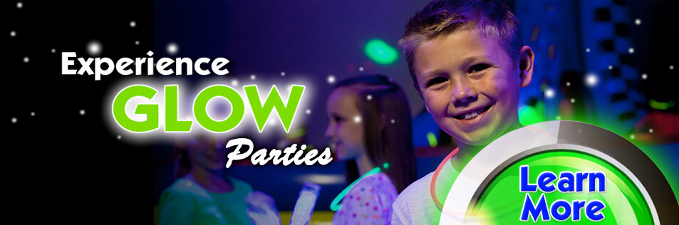 NEW Glow Parties at Sparkles! #1 in Hiram, Ga for Birthday Parties.