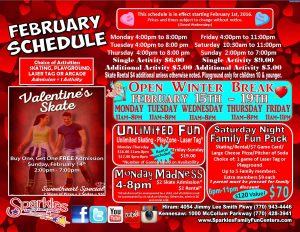 February Schedule Both 2016