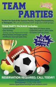 Hiram team parties flyer
