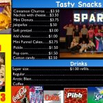 Hiram Snack Bar Menu