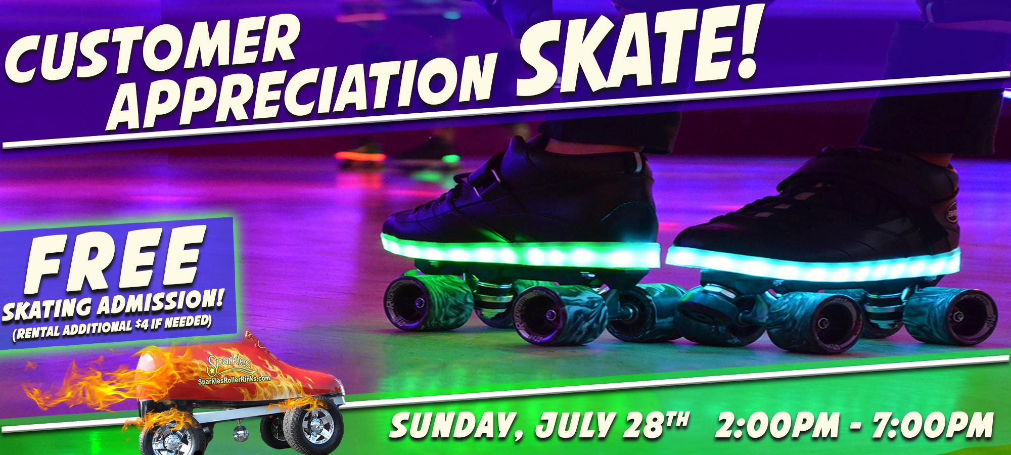 Customer Appreciation Skate July 2019